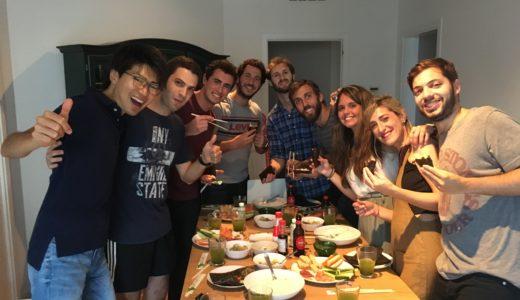 寿司パーティー、文化交流に一番適した方法はその国の食文化を紹介すること! そして、Social Event 第二弾!
